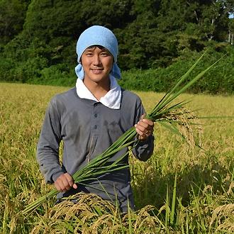 大場さんのお米収穫!
