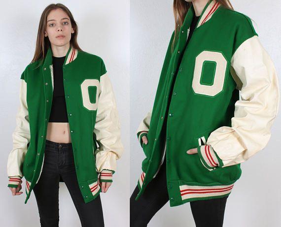 70s Letterman Jacket // Vintage Varsity Jacket Wool Coat Mens Womens - Extra Large to XXL