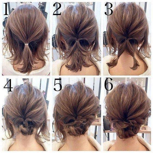 Easy Updos For Medium Hair Short Wedding Hair Easy Hair Updos Short Hair Updo
