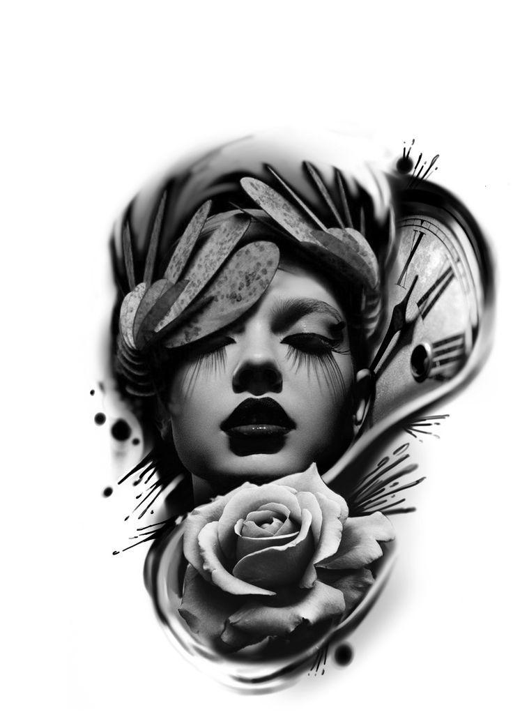 Schwarz und Grau von Instagram Artist @egoxtis #tattoo #tattoodesign #design #dr …