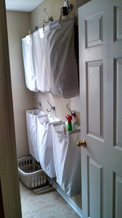 Great idea for laundry room.