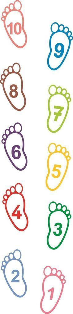 Fotspår med siffror