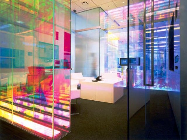 Acrylic lighted space/wall dividers | www.peregrineplastics.com