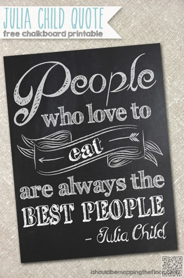 7 Julia Child Quote 9 Whimsical Kitchen Chalkboard
