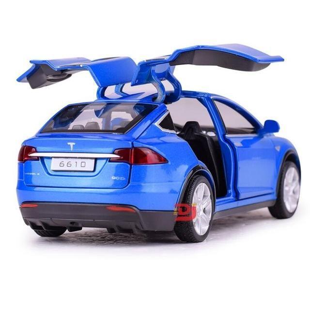 Tesla Model X Toy Car With Music Lights Car Model Toy Car Car