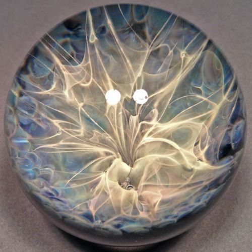 "Plasma Storm Vortex Marble 1 3 4"" Bill Grout Handmade Art Glass Boro 