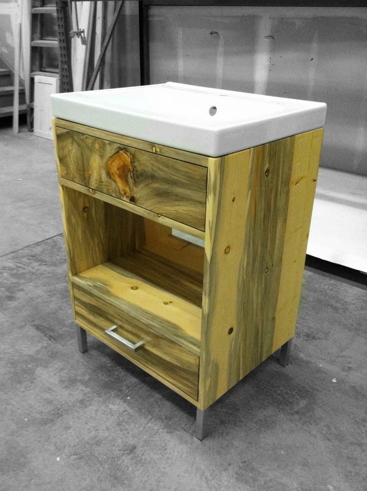 Beetle Kill Pine Modern Bathroom Vanity For Jamie