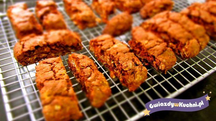 Biscotti z czekolada i migdałami #czekolada #biscotti #migdały