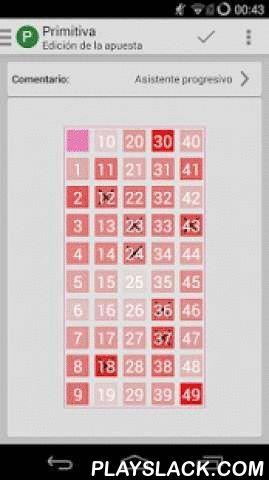 DroidLoterias  Android App - playslack.com ,  Hemos desarrollado una interfaz gráfica amigable para que puedas ver los resultados y escrutinios de los sorteos de la Quiniela, Bonoloto, Primitiva (y el joker), Euromillones, El Gordo de la Primitiva, Loteria Nacional (Navidad y el Niño y sorteos extraordinarios), LotoTurf y Quintuple Plus. Podrás gestionar tus propias apuestas, sencillas o múltiples, y configurar las notificaciones que deseas recibir para estar informado en todo momento de tus…