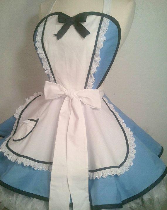 Alice Costume Apron, Plus Size