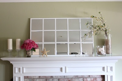 "Debbie of Inspired Honey Bee used our 8"" x 8"" beveled mirrors to complete this beautiful DIY project!"