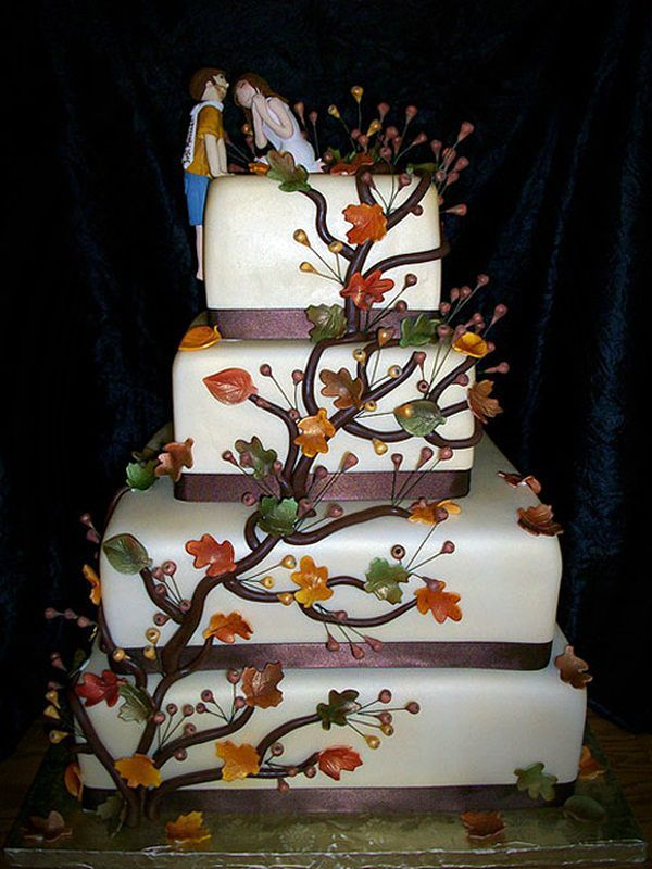 Fall Boss Wedding Cake pictures