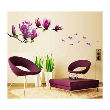 vegg klistremerker Veggdekor, stil magnolia pvc vegg klistremerker - NOK kr. 149