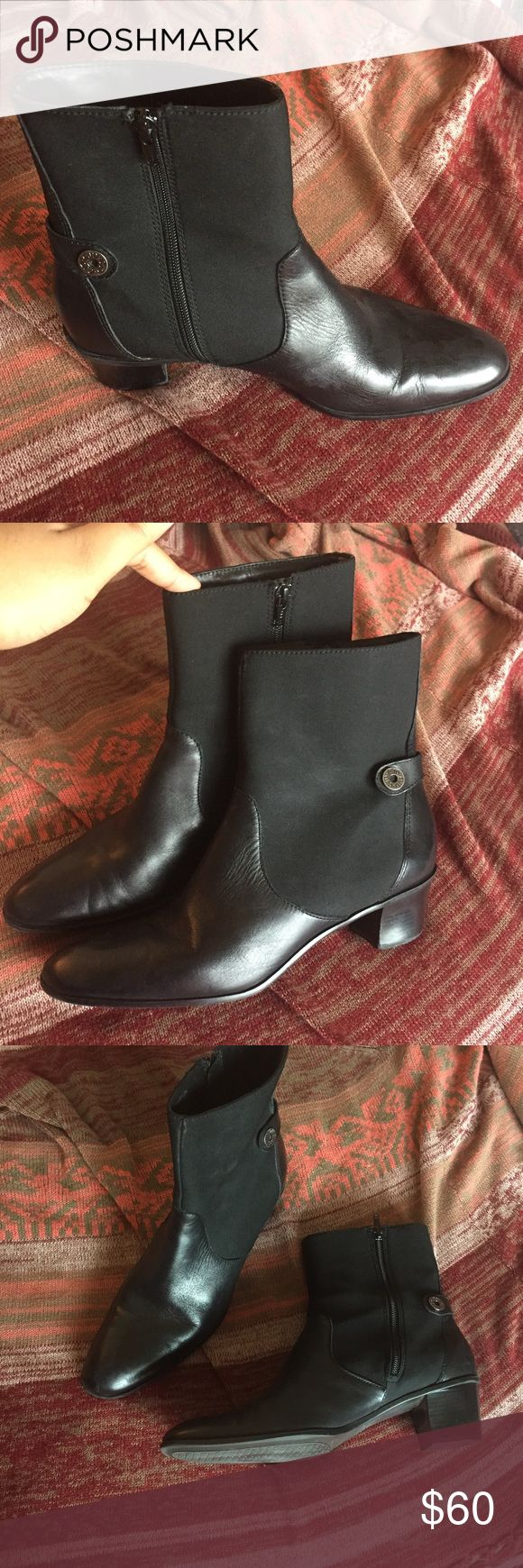 Circa Joan David Leather Western Bootie In excellent condition/ only worn a few times. Very comfortable. Genuine leather on foot. Joan & David Shoes Ankle Boots & Booties