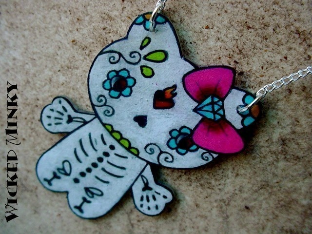 sugar skull HKMuertos Hello, Sugar Skull, Of The, Hellokitty, Hola Gatos, Dead, Day, Hello Kitty, Kitty Necklaces