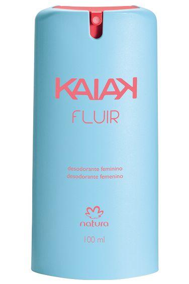 *Desodorante spray Kaiak Fluir Feminino - 100ml* Se você já gosta da fragrância característica de Kaiak de Natura Feminino, experimente sua versão desodorante e descubra esta agradável sensação de frescor.