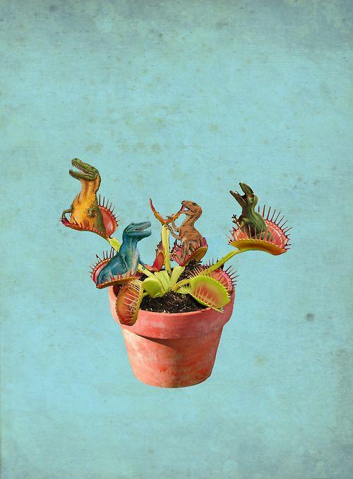 urban tyrannosaur gardening | collage: julia geiser