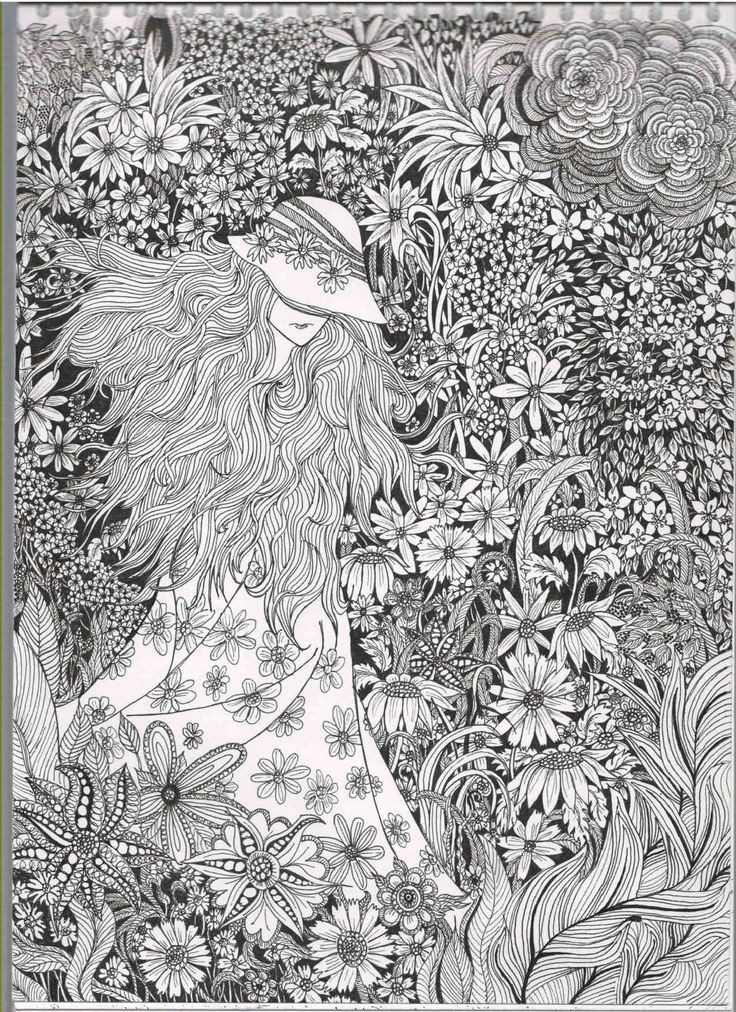 Coloring Book Secret Garden : 182 best coloring books for grown ups images on pinterest