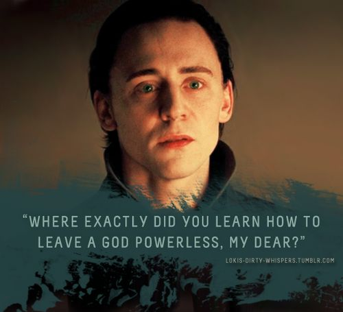 """Submission: """"Where exactly did you learn how to leave a god powerless, my dear?"""""""
