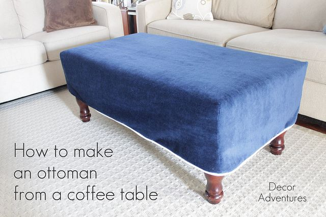 Coffee Table Ottoman Slipcover Woodworking Projects Plans