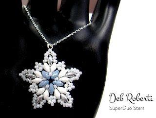 SuperDuo Stars, free pattern   – Perlen Anhänger