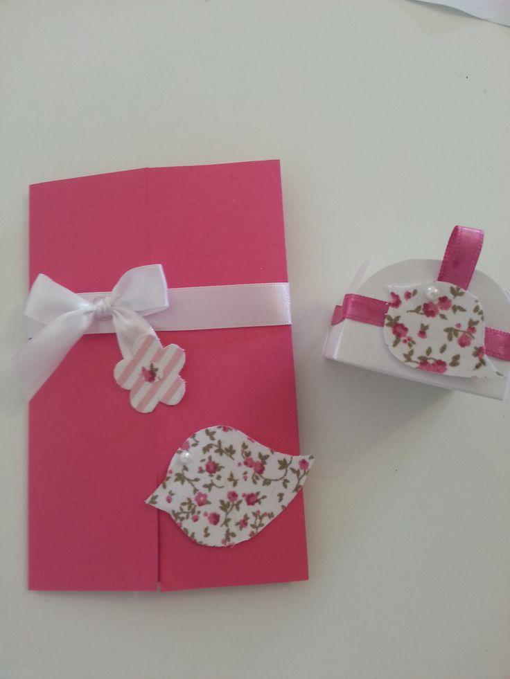 Kits para sua festa! Convite + forminha para doces!