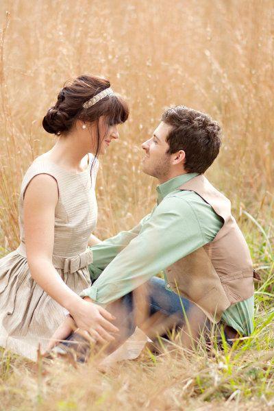 Storybook romance inspired engagement.