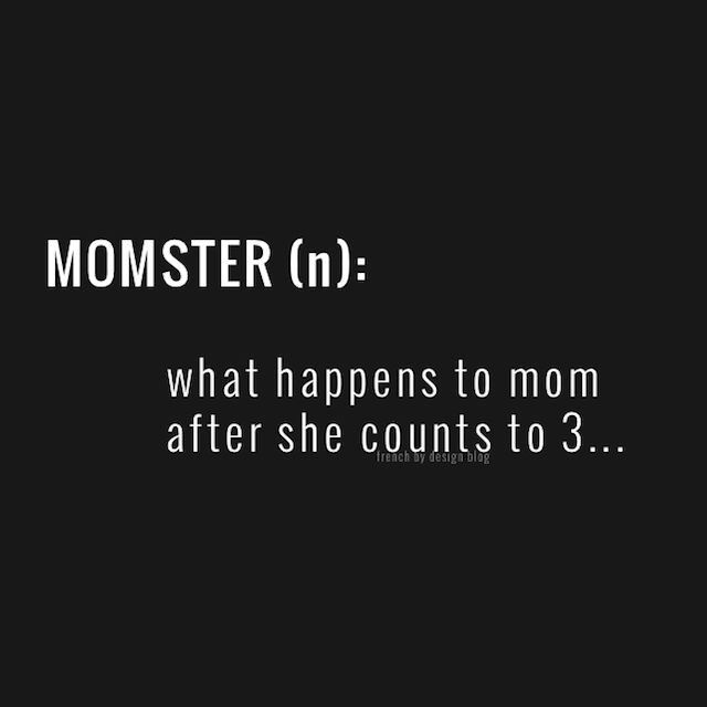 Momster… What happens after she finishes counting to three