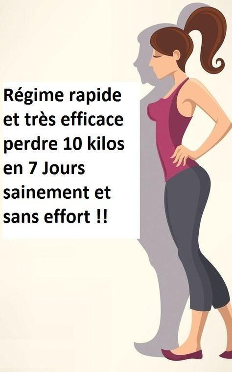 Régime rapide et très efficace perdre 10 kilos en 7 Jours