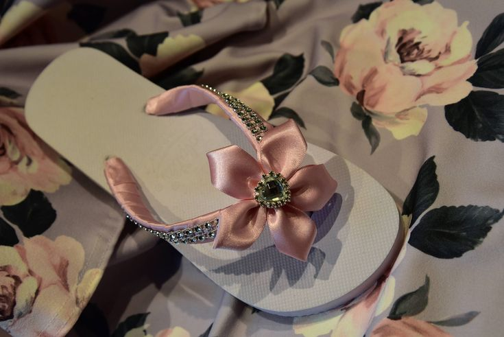 Excited to share the latest addition to my #etsy shop: Satin Bridal Flip Flop, Diamante Flip Flop, Bridesmaid shoes, Bridal Slippers, Bridal Flip flops, bows,satin,beach wedding,handmade wedding