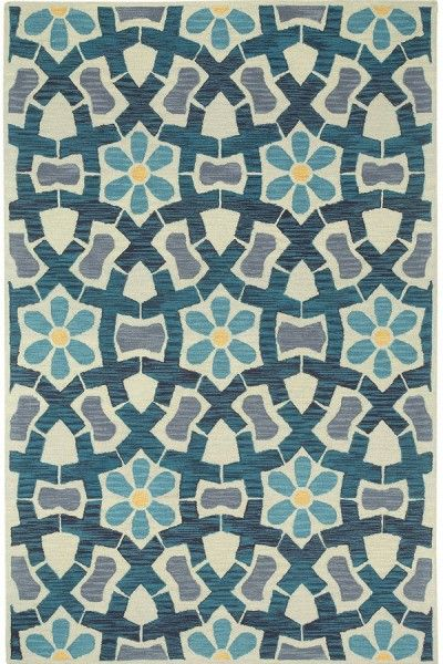 Affordable Blue Hand Tufted Rug TTP-546