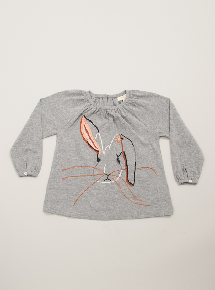 Fia cotton jersey bunny smock top by Soft Gallery