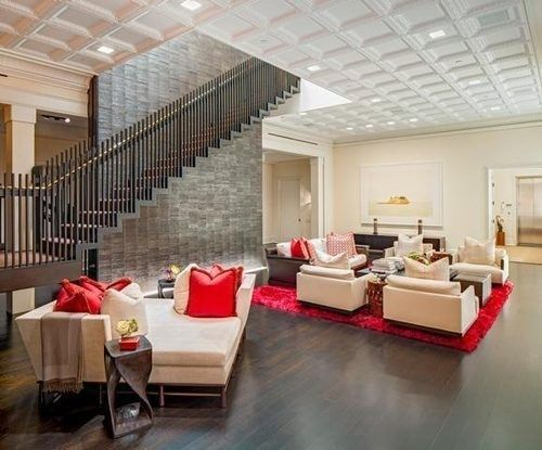 Kelly Ripa's Soho Penthouse - love the neutral colors, textures and bright accents.