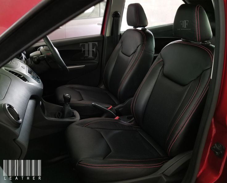 Visible red stitches gives the sporty look this seats - Team FF Car accessories