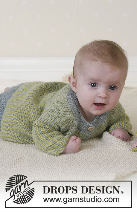 Little Fern / DROPS Baby 14-27 - DROPS Jacket, pants, soft toy and blanket in Alpaca