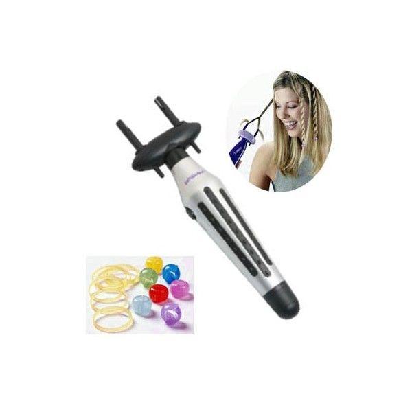 Μηχανή μπαταρίας για κοτσιδάκια BRAIDER  Κάντε την διαδικασία παιχνίδι με την αυτόματη μηχανή για κοτσιδάκια. Αυτόματο πλέξιμο - δημιουργεί πλεξούδες σε δευτερόλεπτα.     Εύκολη χρήση με ένα χέρι πάτημα ενός κουμπιού.   Τοποθετήστε ένα σκέλος της τρίχας κάτω από κάθε γάντζο. Πατήστε το κουμπί μέχρι να στρέψετε τα σκέλη για να δημιουργηθεί η πλεξούδα. Λειτουργεί με 1τεμ αλκαλική μπαταρία AA Περιλαμβάνει  χάντρες και λάστιχα διακόσμησης.  http://www.beautymark.gr/  5,43 € με Φ.Π.Α.
