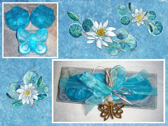 Blue Butterflies: Turquoise Gift for Her Elegant Gift Set for