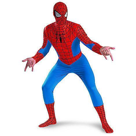 New Disney Disguise Men Spiderman Halloween Costume Size XL (42-46) XXL (50-52)