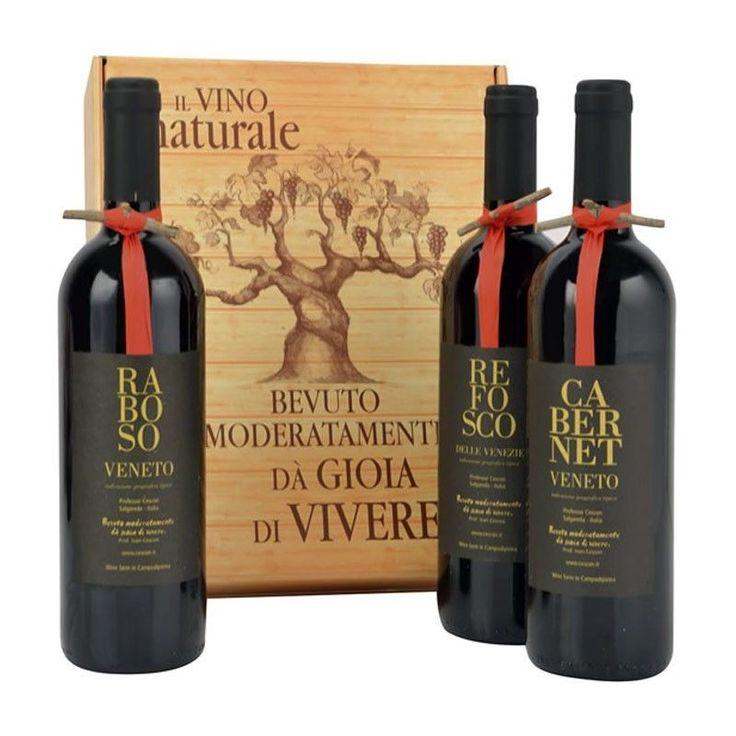 Regalo Confezione Vino Albero di Natale Cantina Cescon - Cassetta Vini Regalo