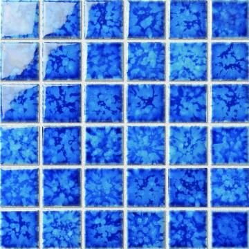 Blue Color Swimming Pool Ceramic Mosaic Tiles