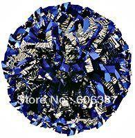 Черлидинг пом англичане 3/4  x 6  ~ пользовательский цвет металлик зебры черным по белому смешанный с металлическим королевский синий мини-заказ 10 шт.