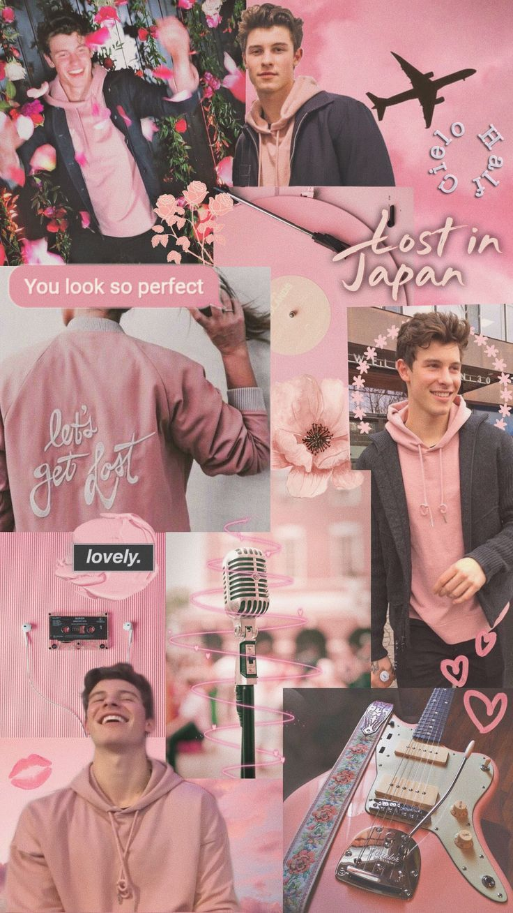 Shawn Mendes aesthetic wallpaper pink Shawn mendes