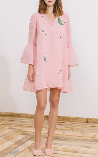 Veronica Bell Sleeve Dress by ZAYAN THE LABEL for Preorder on Moda Operandi