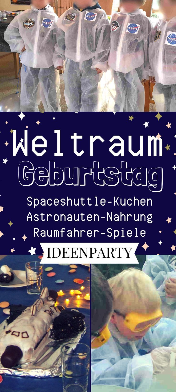 Ein Weltraumgeburtstag ist ein besonders cooles Motto für einen Kindergeburtsta