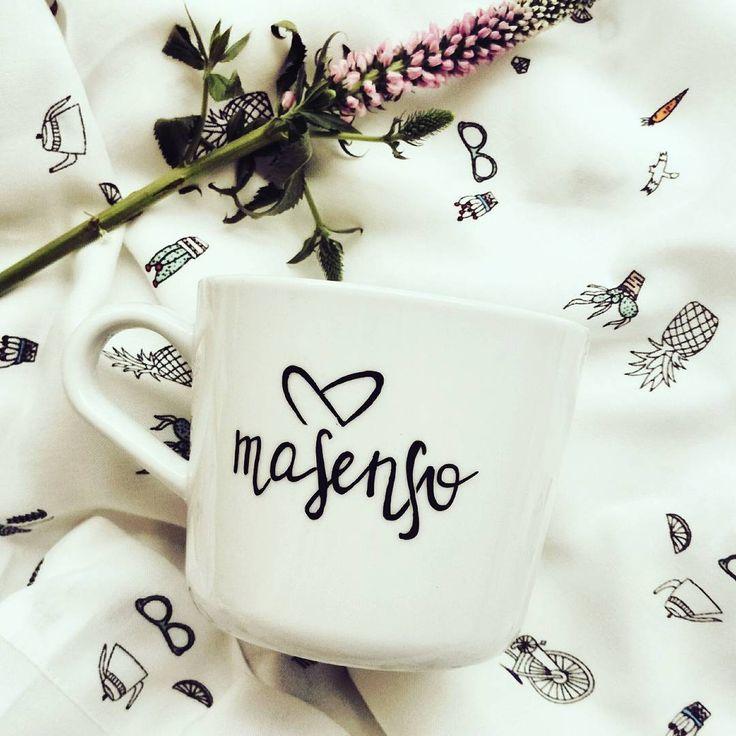 Na dobry początek dnia i pracy nad wzorami będzie kawka z super prezentu od @jedrki.pl 😃 #goodmorning #coffeetime #newbrand #masenso #by_masenso #comingsoon #staytuned #fabric #loungewear #lounge #nigtwear #sleepwear #new #happy #mug #coffee #handmade #fabric #hello #love #bright #meadow #newcollection #monday