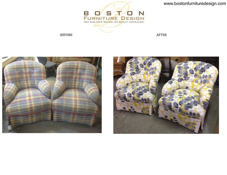 Before After: Button Back Swivel Chairs Reupholstered By Boston Furniture  Design. For More Information