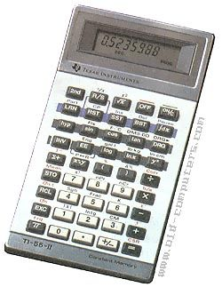 Texas Instruments  TI-55-II  	    The TI-55 was one of the first programmable calculator which keeps programs and data in memory, even when it was turned off.    112 pre-programmed functions, including statisticals.