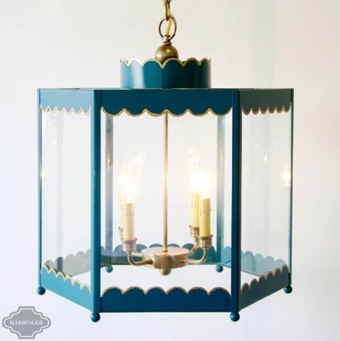 ❤❤ Copyrights unknown. Coleen & Company: Scalloped Lantern - LargeDecor, Powder Room, Lights Fixtures, Details, Ceilings Lights, Scallops Lanterns, Powder Bath, Company, Coleen