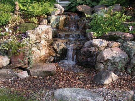 Beautiful pondless waterfall. | Garden: Not So Secret Garden | Pinterest | Water features ...