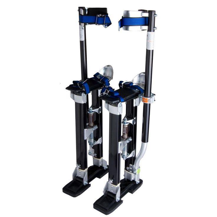 "24"" - 40"" Adjustable Aluminum Drywall Stilts Black"